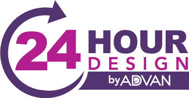 ADVAN 24-Hour Design Logo