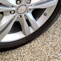 Garage Epoxy flooring is a nature stone alternative contact Ohio Garage Interiors