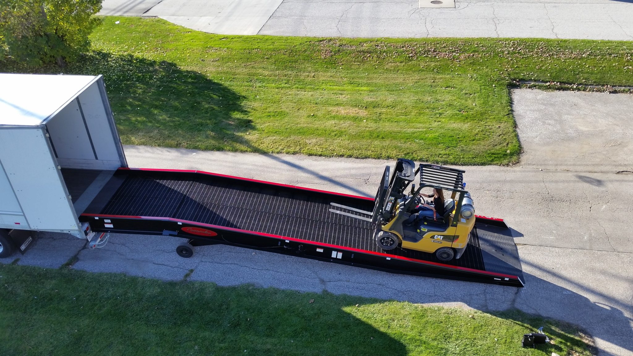 Box Truck Loading Ramp | Portable Loading Dock Equipment