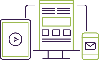 clip art of tablet, computer, and mobile device linking