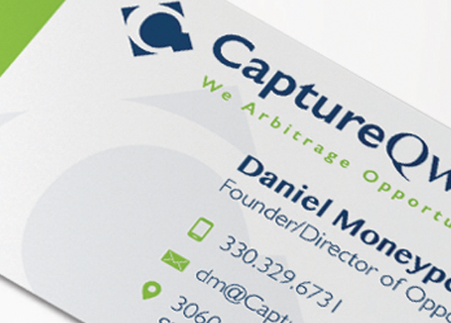 an example of 24-Hour Design business card used in branding development