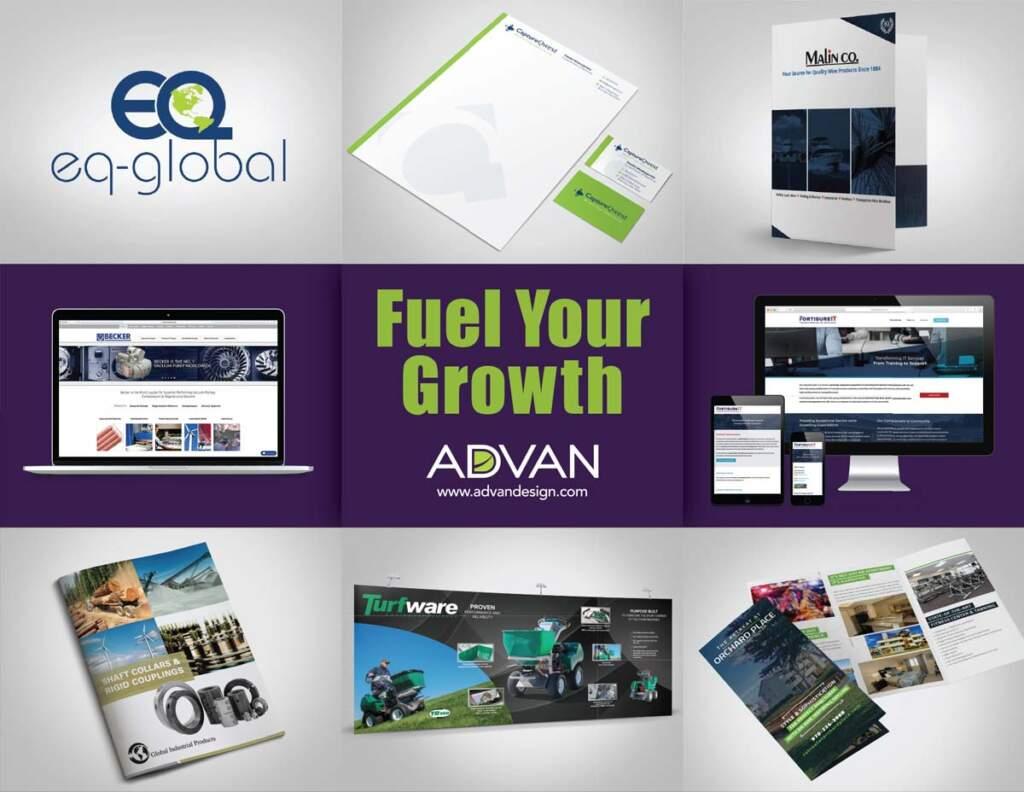 Fuel Your Growth with ADVAN Design   ADVAN graphic design examples   Branding agencies