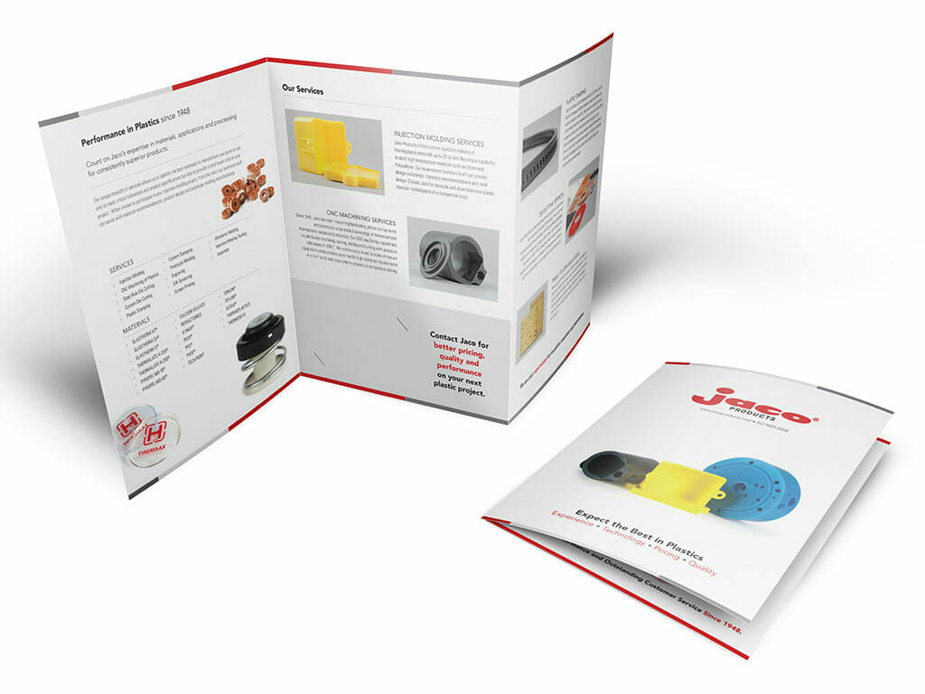 ADVAN brochure example for Jaco Products | Fast graphic design