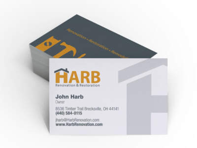 ADVAN Design business card example for Hard Renovation & Restoration | Graphic Design